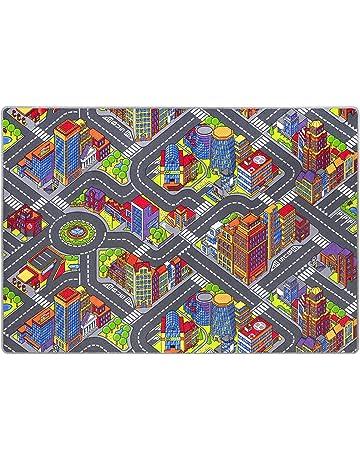 andiamo Alfombra de niños Game City, con Motivos de Calles, diseño de Ciudad,
