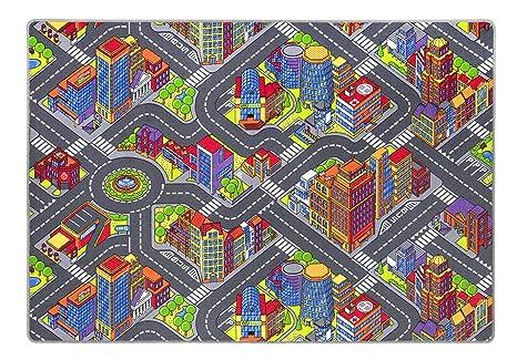 Andiamo Kinderteppich Game City Bunt Teppich Mit Detailiertem