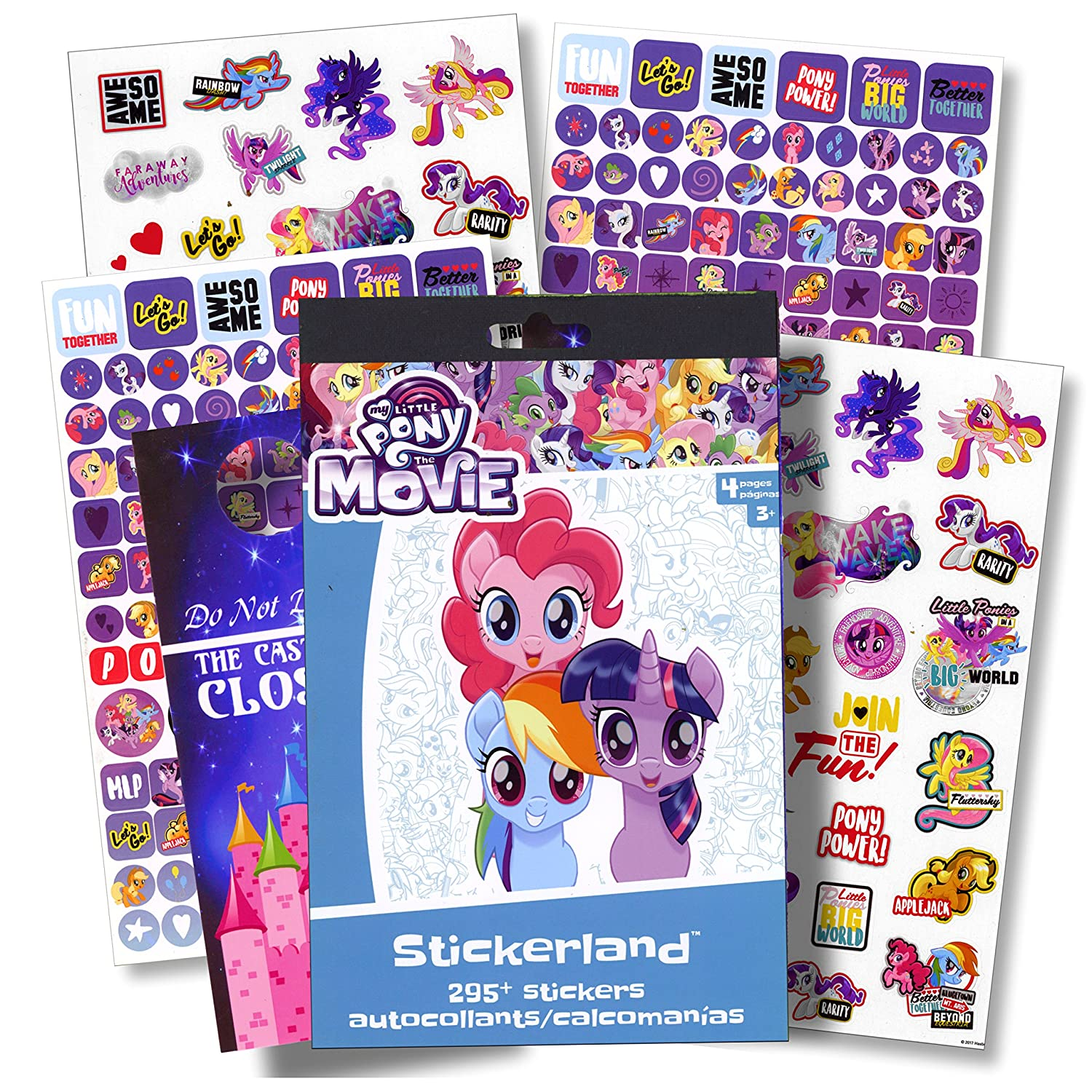 My Little Pony The Movie My Little Pony Stickers Over 295 Stickers Bundled with Specialty Door Hanger