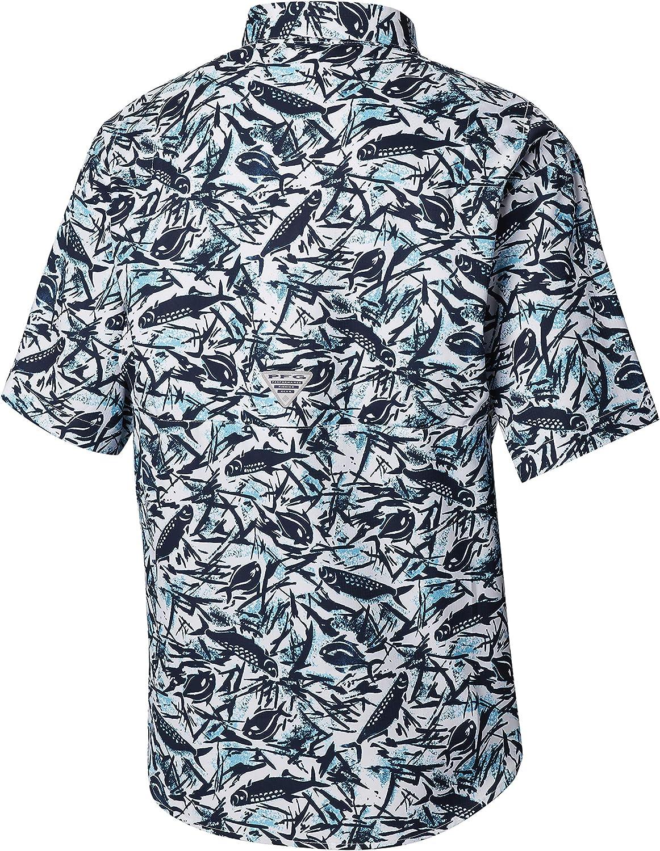 UPF 40 Sun Protection Wicking Fabric Columbia Mens PFG Super Tamiami Short Sleeve Shirt