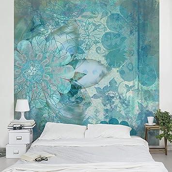 fotomural winter flowers mural cuadrado papel pintado fotomurales murales pared