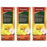 Gourmet Zumo de Melocotón, Manzana y UVA - Pack de 3 x 20 cl - Total: 600 ml