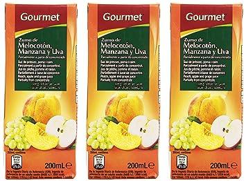 Gourmet Zumo de Melocotón, Manzana y UVA - Pack de 3 x 20 cl - Total: 600 ml: Amazon.es: Amazon Pantry