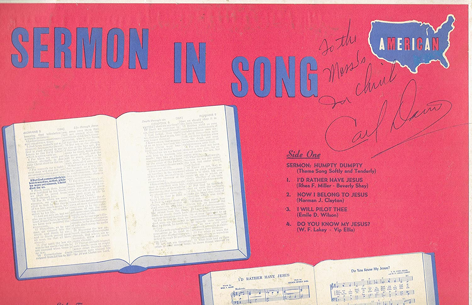 Carl Davis - Sermon in Song -- 1963 HiFi Vinyl LP Record - Amazon