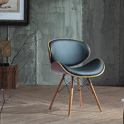 Pleasant Amazon Com Mid Century Modern Accent Chair Curved Bent Inzonedesignstudio Interior Chair Design Inzonedesignstudiocom