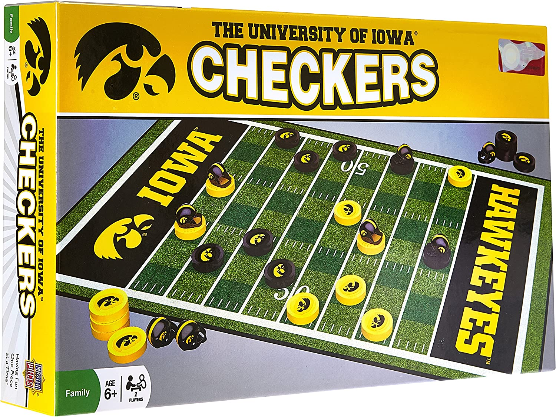 MasterPieces NCAA Iowa Hawkeyes Checkers Board Game