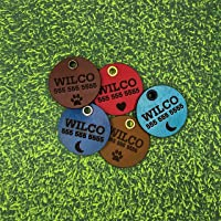 Wilco Supply Company - Custom Handcrafted Leather Pet Identification Tag for a Stylish, Durable and SILENT Alternative…
