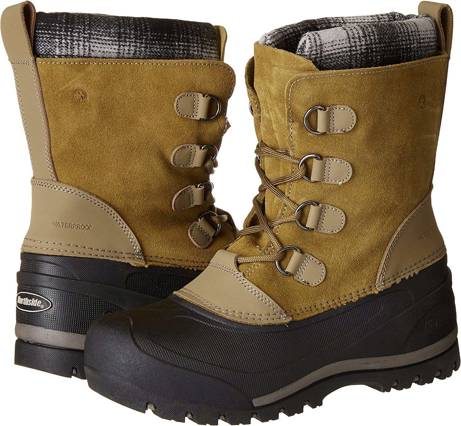 Size 2 Medium US Little Kid Northside Unisex-Kids Back Country Snow Boot Tan//Grey