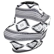 Baby Car Seat Canopy, Nursing Scarf, Breastfeeding Cover, Shopping Cart Cover and Stroller Sunshade By SimpleTots for Boys & Girls. Multi Use - The Perfect Baby Shower Gift for New Moms (Aztec)