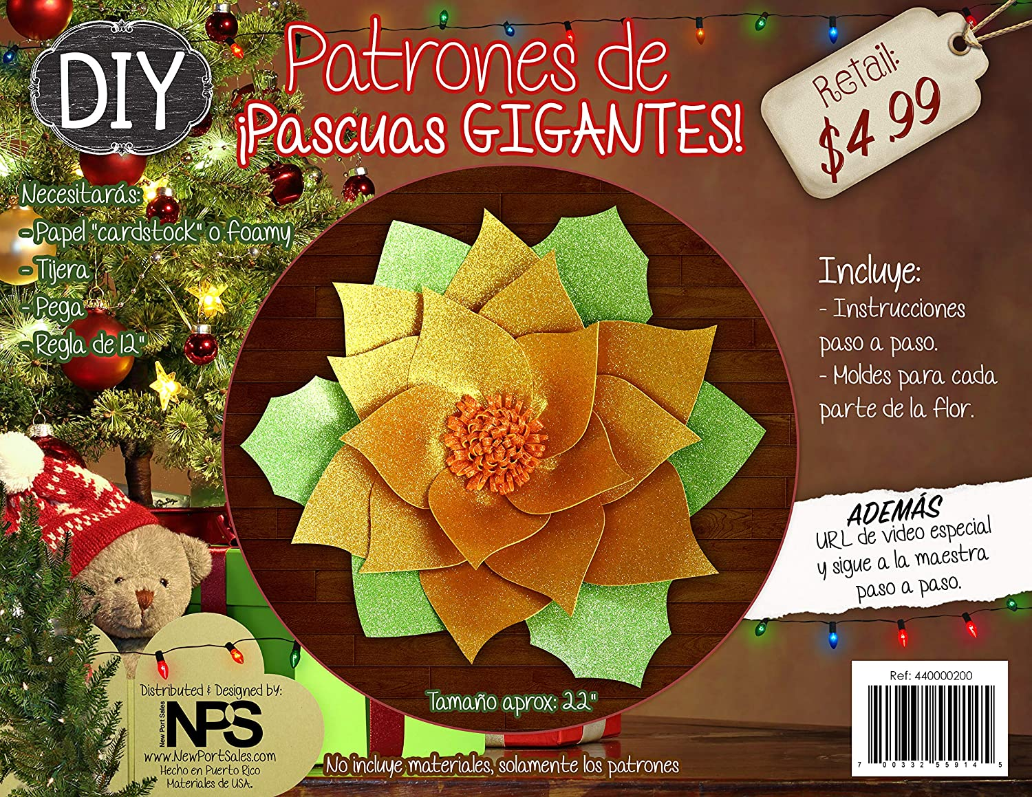 Amazon.com: DIY Poinsettias Patterns - Big Sizes 21 inches aprox with Video Tutorial URL