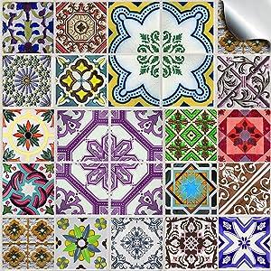 Küche 24  24 stück Fliesenaufkleber für Küche und Bad (Tile Style Decals 24x ...
