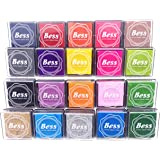 Craft Ink Pad Stamps Partner DIY Color,20 Color Ink Pad for Stamps, Paper, Wood Fabric, Kid's Rubber Stamp Scrapbooking Card Making Beautiful Water-Soluble Colors (Pack of 20) by Weierken.