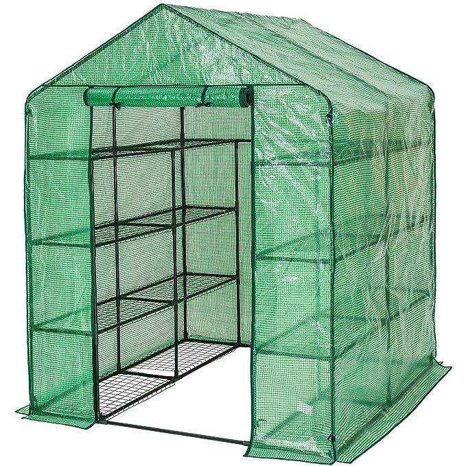TecTake Invernadero de jardín vivero casero plantas cultivos - varios modelos - (143x143x195cm | No. 401860): Amazon.es: Jardín