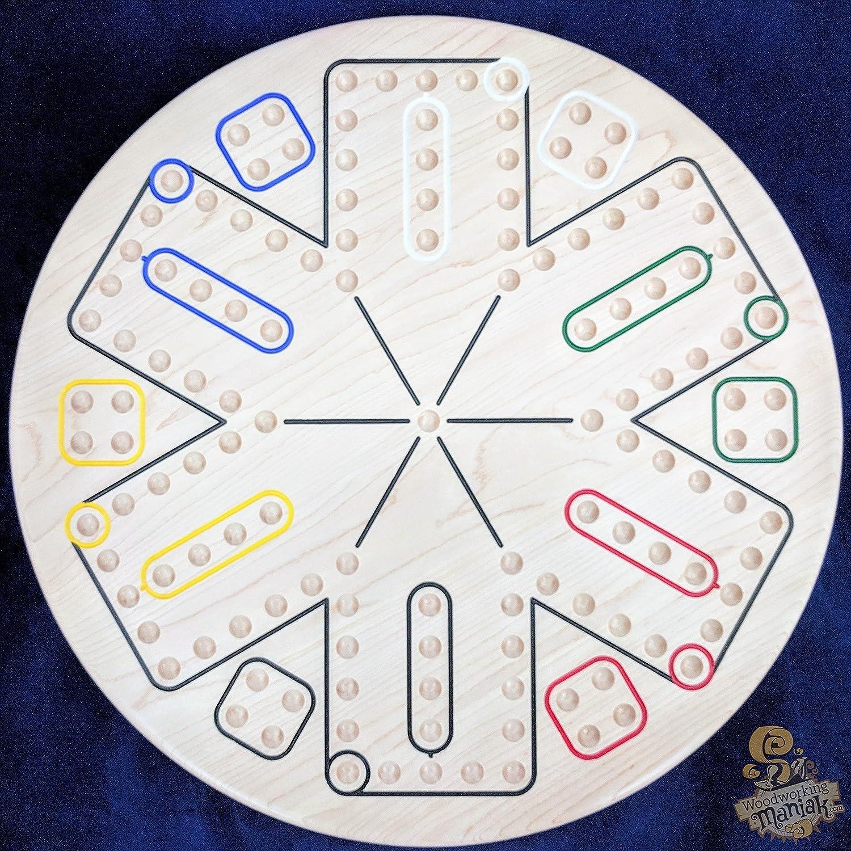 Amazon 6 Player Wahooaggravation Board Game In Local Hardwoods
