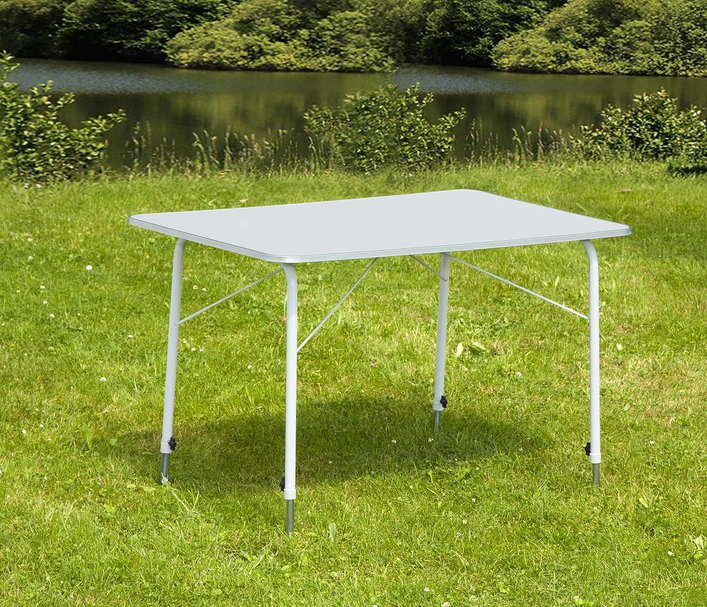 Greemotion Campingtisch Tisch 100x67 cm Balkontisch Klapptisch höhenverstellbar
