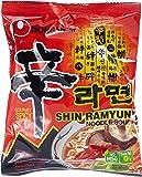 Nong Shim Instantnudeln Shin Ramyun – Koreanische Rindfleisch Ramen Suppe scharf - schnelle Zubereitung – 20er Vorteilspack à 120g