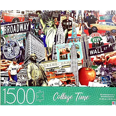 Collage Time, Best of NYC 1500 Piece Puzzle: Toys & Games