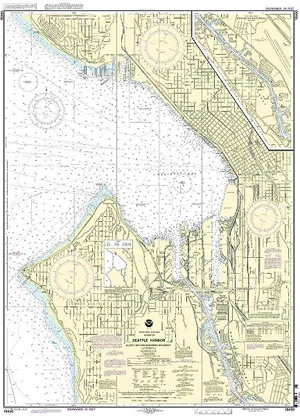 Amazon.com : 18450--Seattle Harbor, Elliot Bay and Duwanish Waterway ...