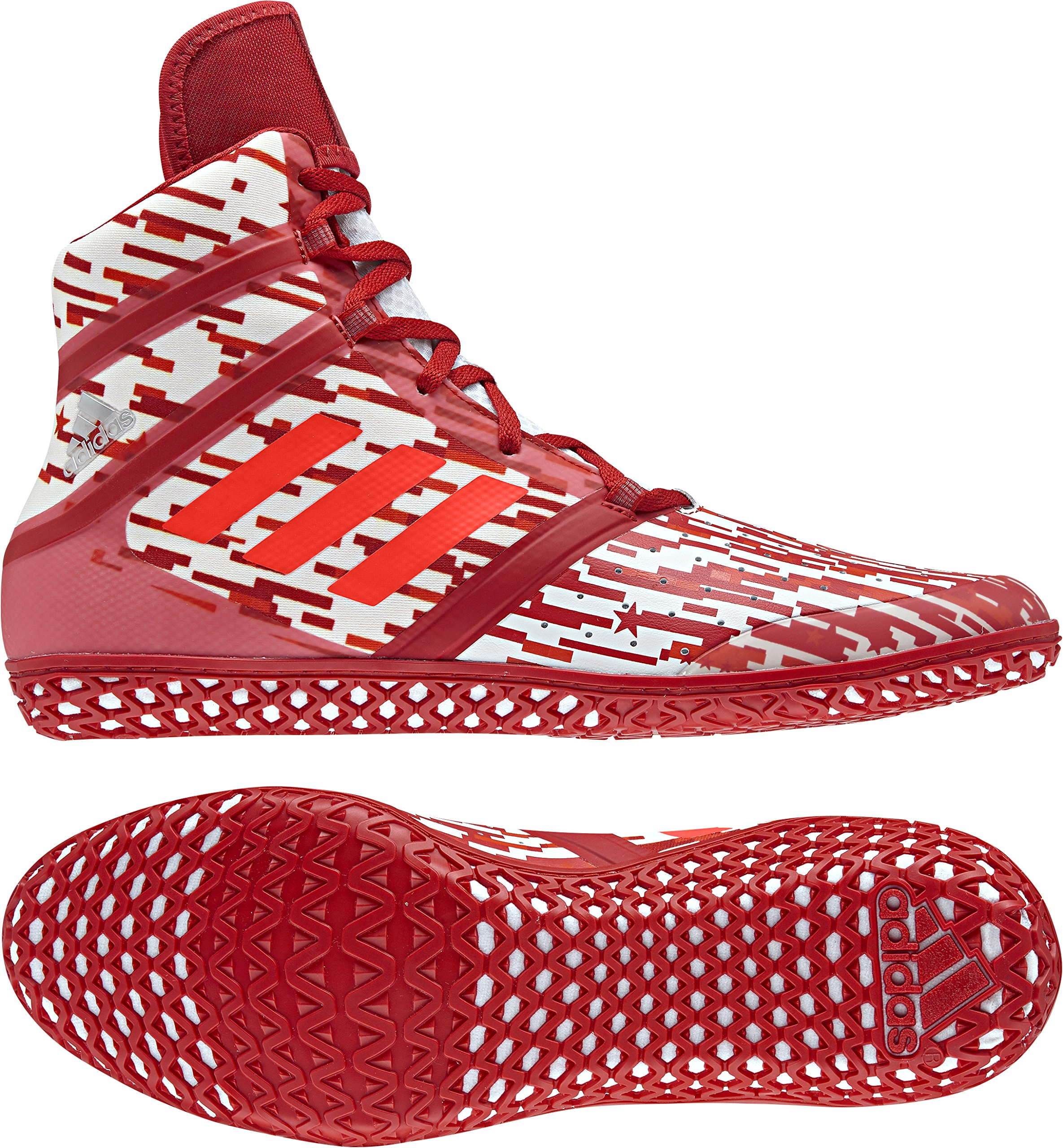 newest 4051d 55a68 Galleon - Adidas Impact Men s Wrestling Shoes, Red Digital Print, Size 6