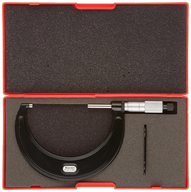 Genauigkeit +//-0.004/mm Starrett 436.1/mrl-100/RL-Au/ßen Ratsche Stop Kontermutter 75 100/mm Range 0.01/mm Teilung