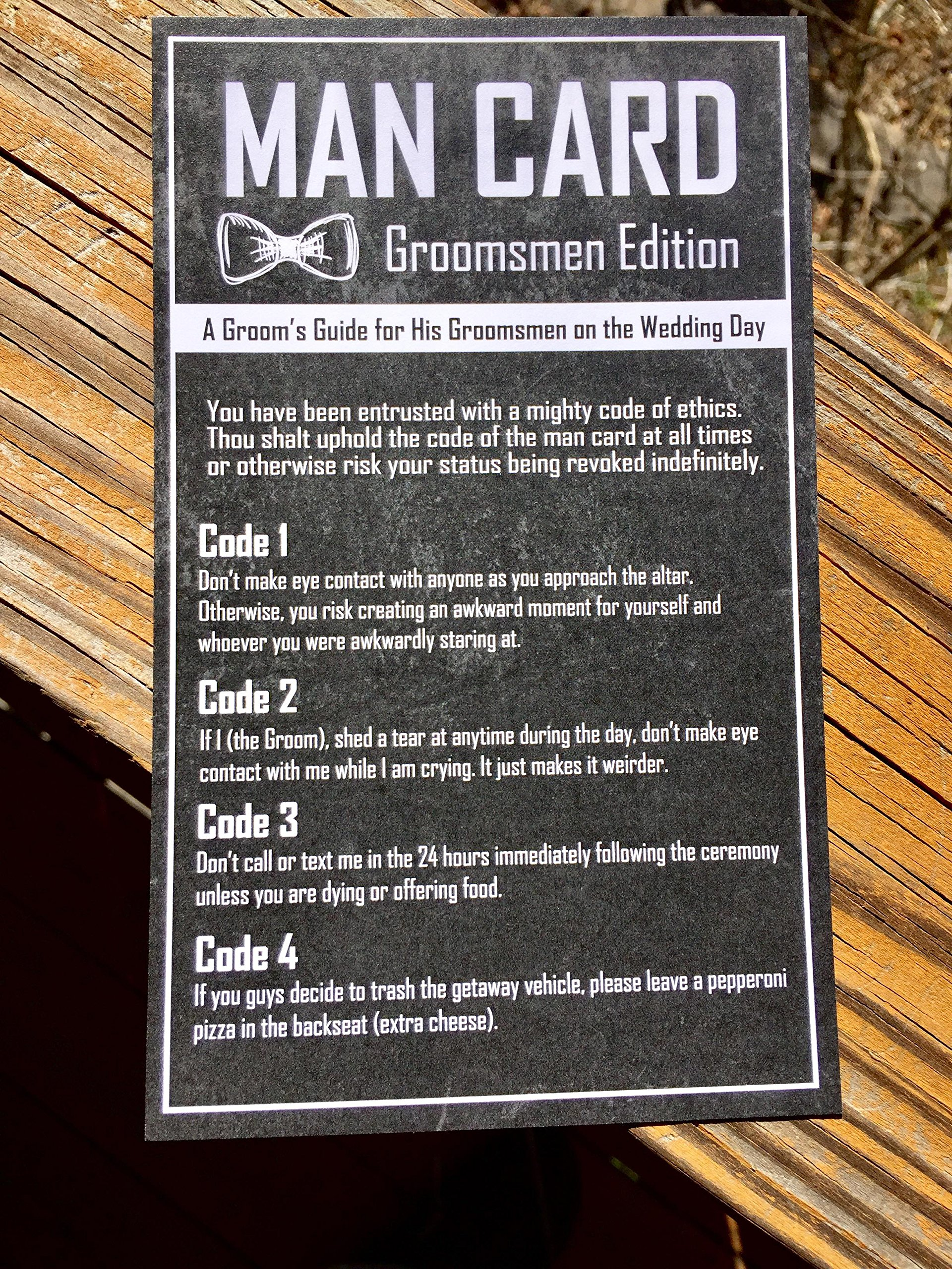 Groomsmen Gifts For Wedding - The Man Card - Groomsmen Edition 6-Pack by Wannabe Genius (Image #5)