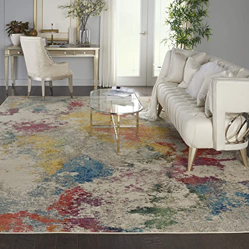 Nourison Celestial Colorful Modern Multicolor Oversized Rug 9 X12 , IVORY MULTI
