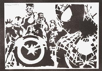 The Avengers Poster Handmade Graffiti Street Art - Artwork