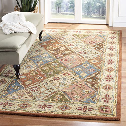 Safavieh Heritage Collection HG316A Handcrafted Traditional Oriental Beige Wool Area Rug 5 x 8