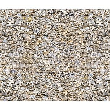decomonkey | Fototapete Stein Steinwand Steinoptik braun 400x280 cm XXL |  Design Tapete | Fototapeten | Tapeten | Wandtapete | moderne Wanddeko |  Wand ...