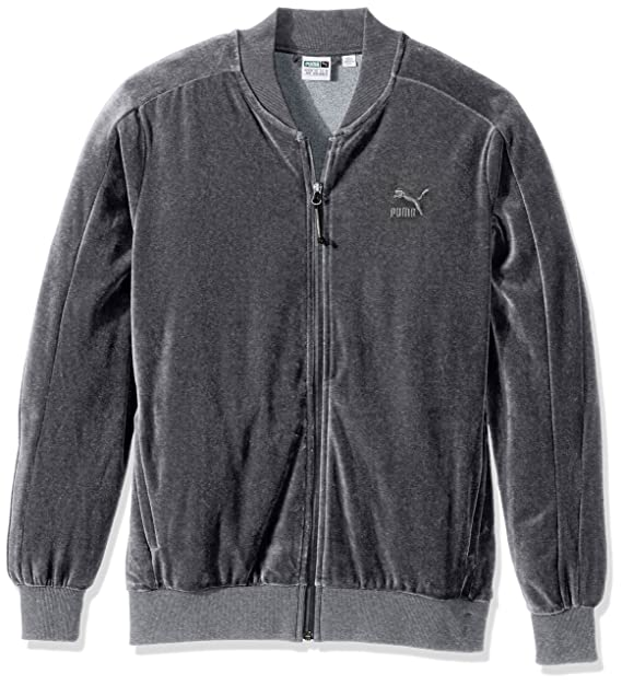 99f3a724130ae PUMA Men's Velour T7 Jacket, Medium Gray Heather, Small: PUMA ...
