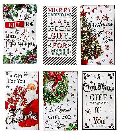 12 bonitas tarjetas navideñas tamaño cartera con sobres ...