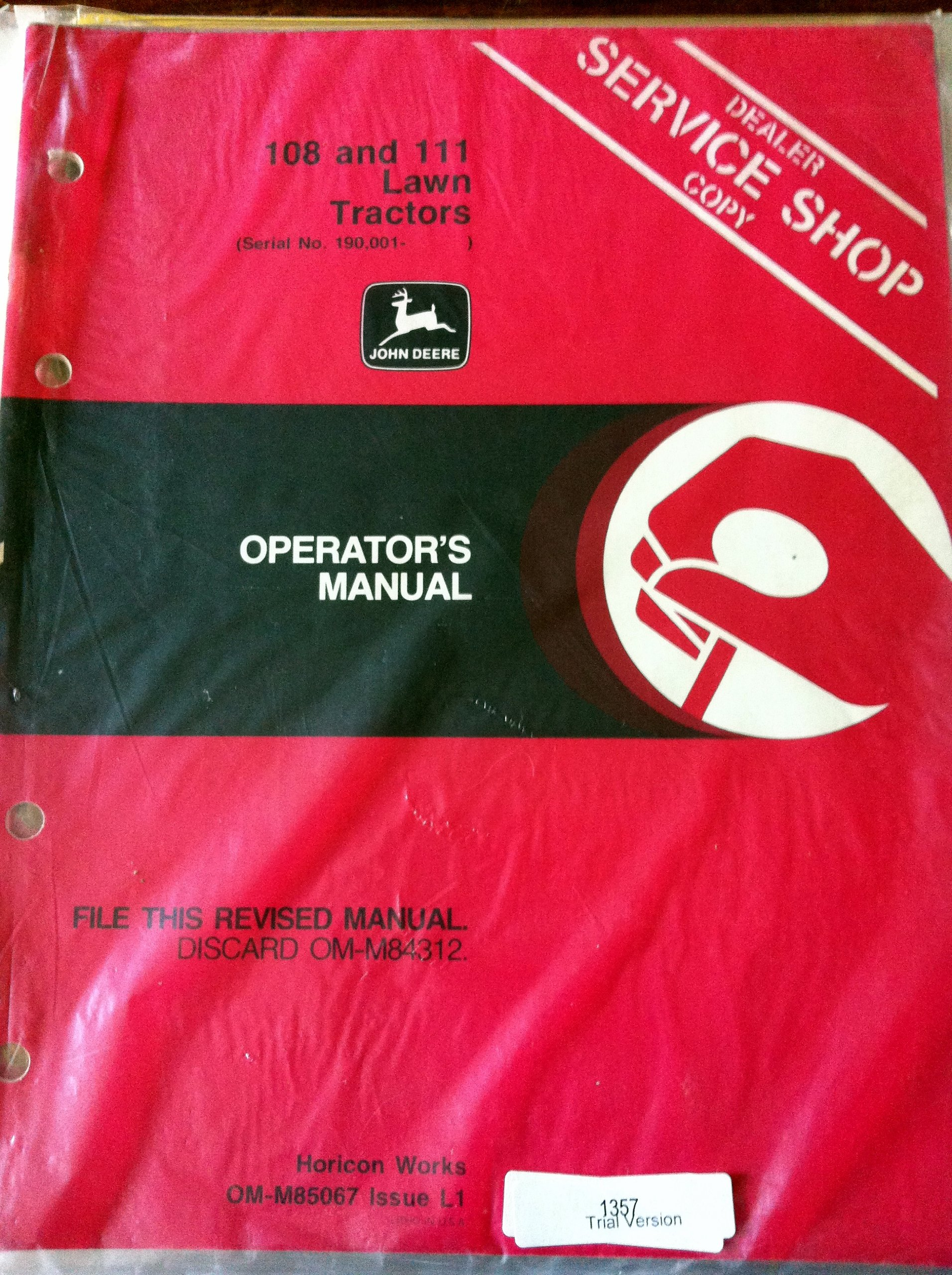 John Deere 111 Operators Manual 2019 Ebook Library