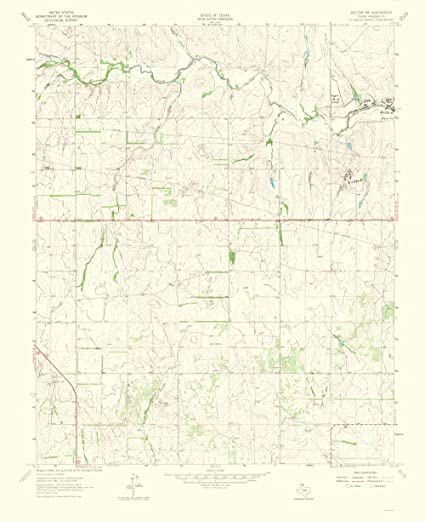 Map Of Northwest Texas.Amazon Com Topographical Map Print Kelton Northwest Texas Quad