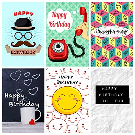 12 Various Novelty Design Birthday Cards Envelopes By Greetingles Made In UK New Designs Amazoncouk Kitchen Home