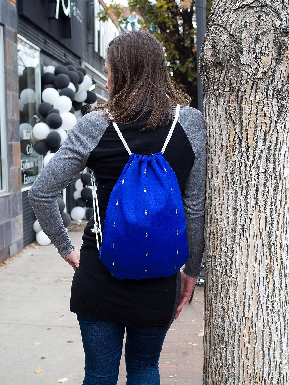511eb631363a Amazon.com: Drawstring Backpack//Royal Blue//Vintage Back Pack//Fair ...