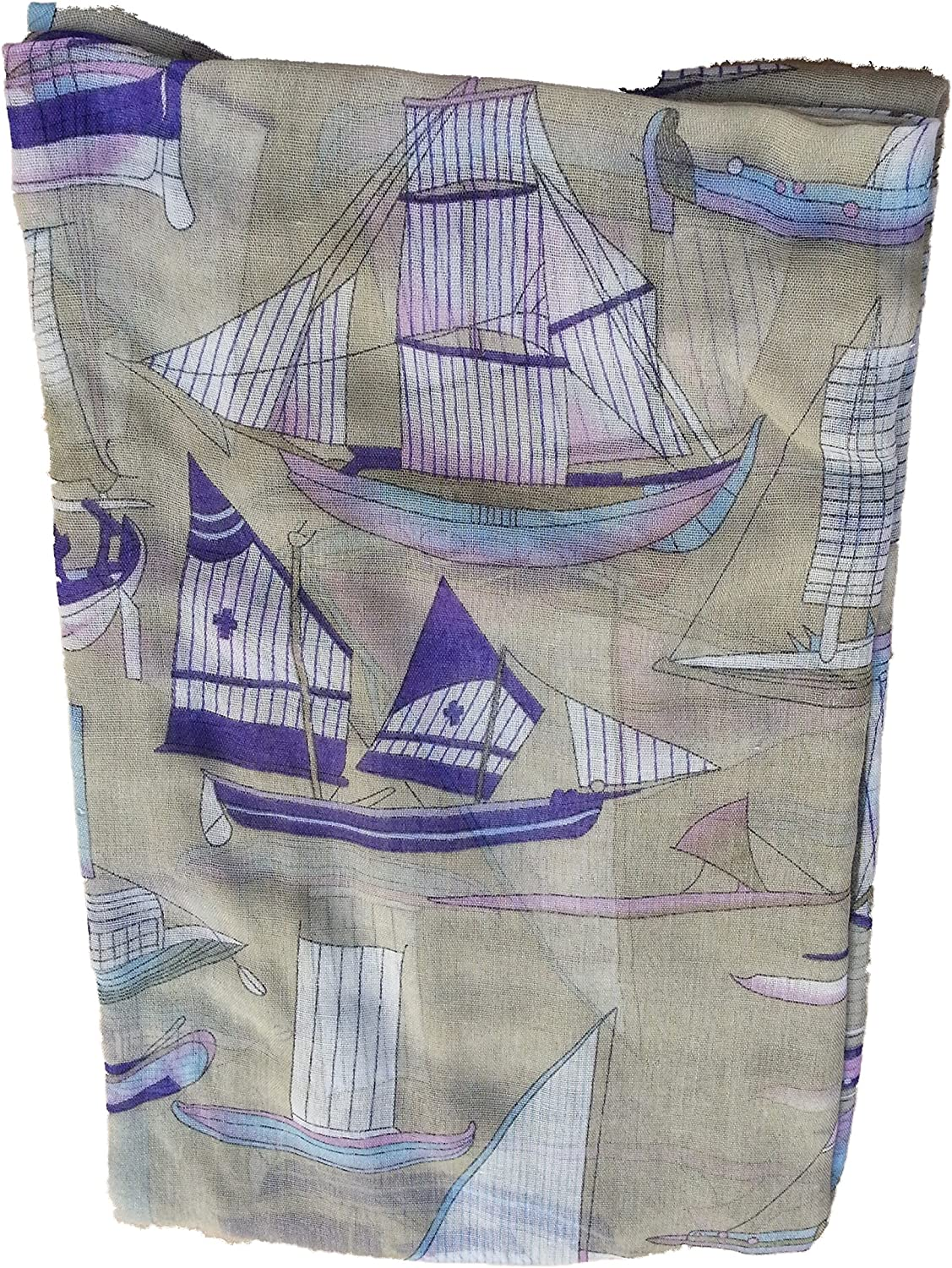 Ancient Sailing Ship Scarf Sailing Ships of the Ancients over this soft scarf