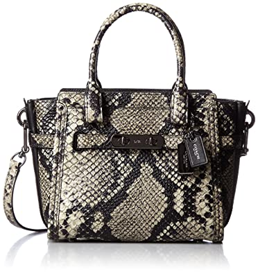 5a23354ec210 ... promo code for amazon coach womens stamped snakeskin coach swagger 21  dk natural satchel shoes 25c7e