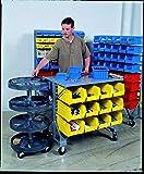Akro-Mils 30812 Powder Coated Steel Mobile Bin Cart