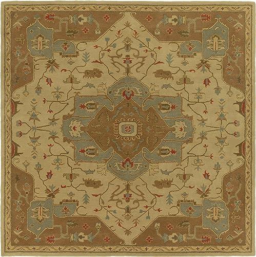 Surya Hand Tufted 100-Percent Wool Classic Area Rug, 9-Feet 9-Inch