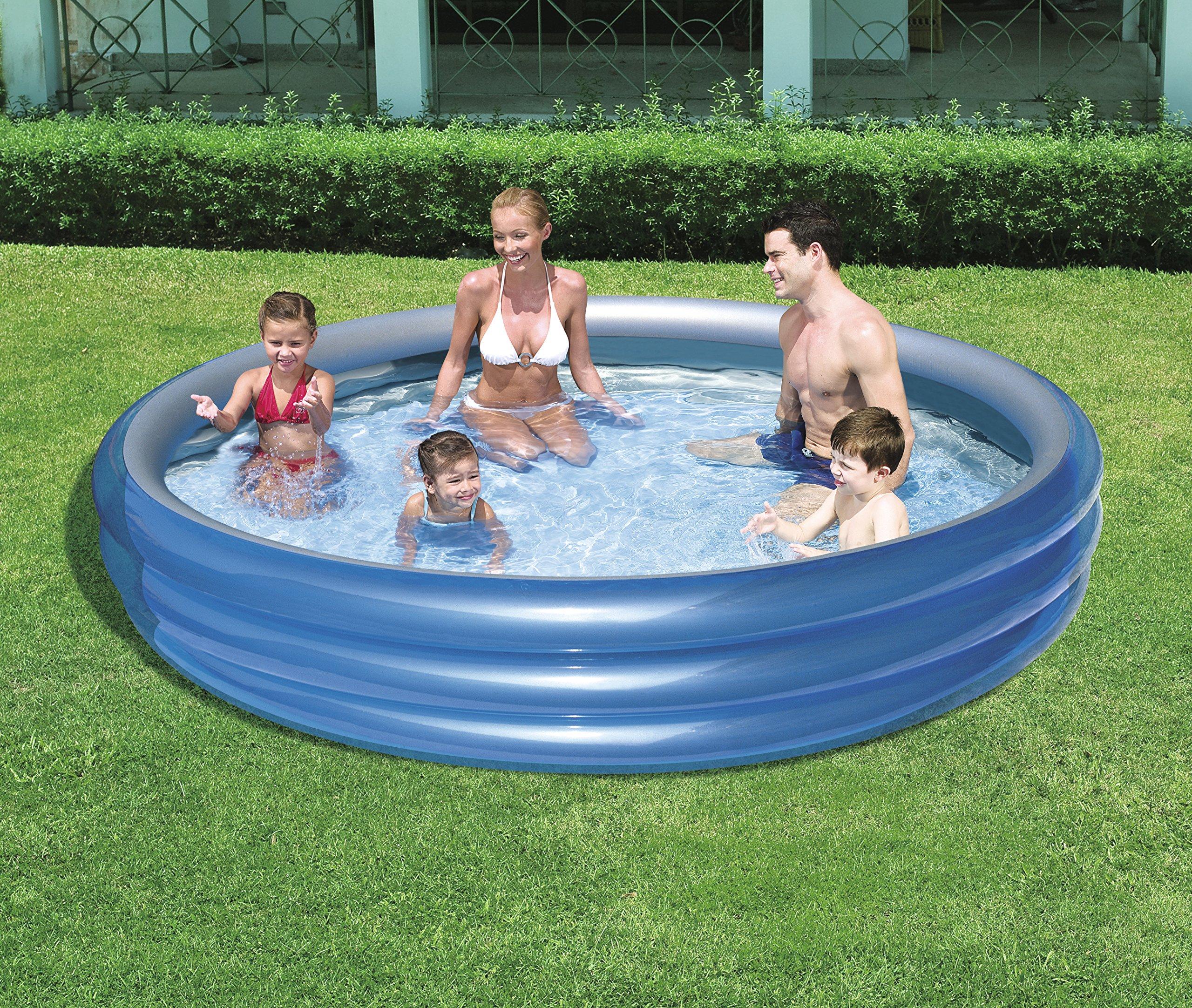 H2OGO! Big Metallic 3-Ring Inflatable Play Pool by Bestway (Image #3)