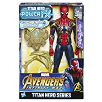 Hasbro Marvel Avengers Infinity War Iron Spider Titan Hero Power FX (Personaggio 30cm, Action Figure), 30 cm, E0608103