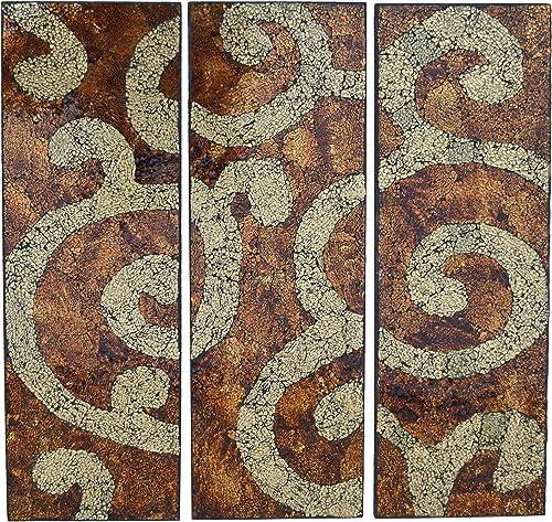 LuLu Decor, Closeout Sale, Baltic Amber Wall Art 3 Pieces, Decorative Handmade Wall Art, Diameter Perfect for Housewarming Gift. LP400