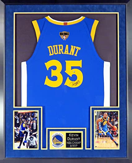 new style 5e075 7cd5f Golden State Warriors Kevin Durant Autographed Blue Jersey w ...