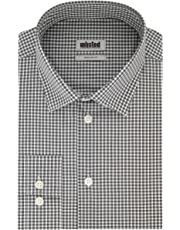 Kenneth Cole Reaction Men's Unlisted Dress Shirt Regular Fit Check Spread Collar