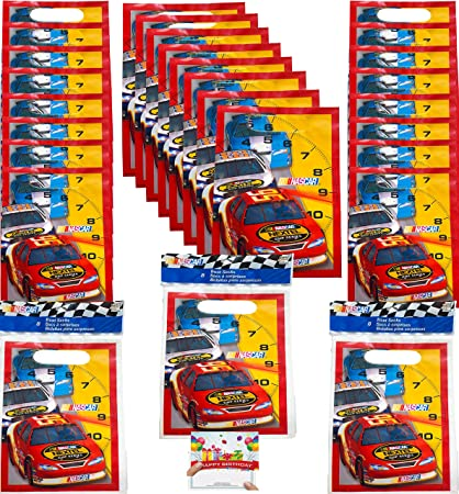 Amazon.com: Nascar Party Supplies - Bolsas de plástico para ...