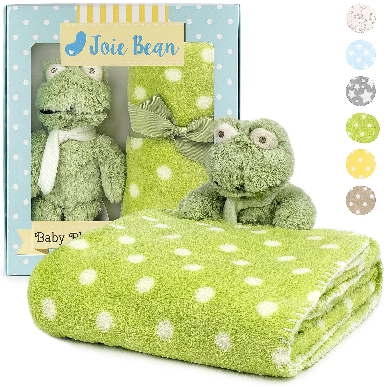 Amazon Com Premium Baby Blanket Set For Boys With Stuffed Animal