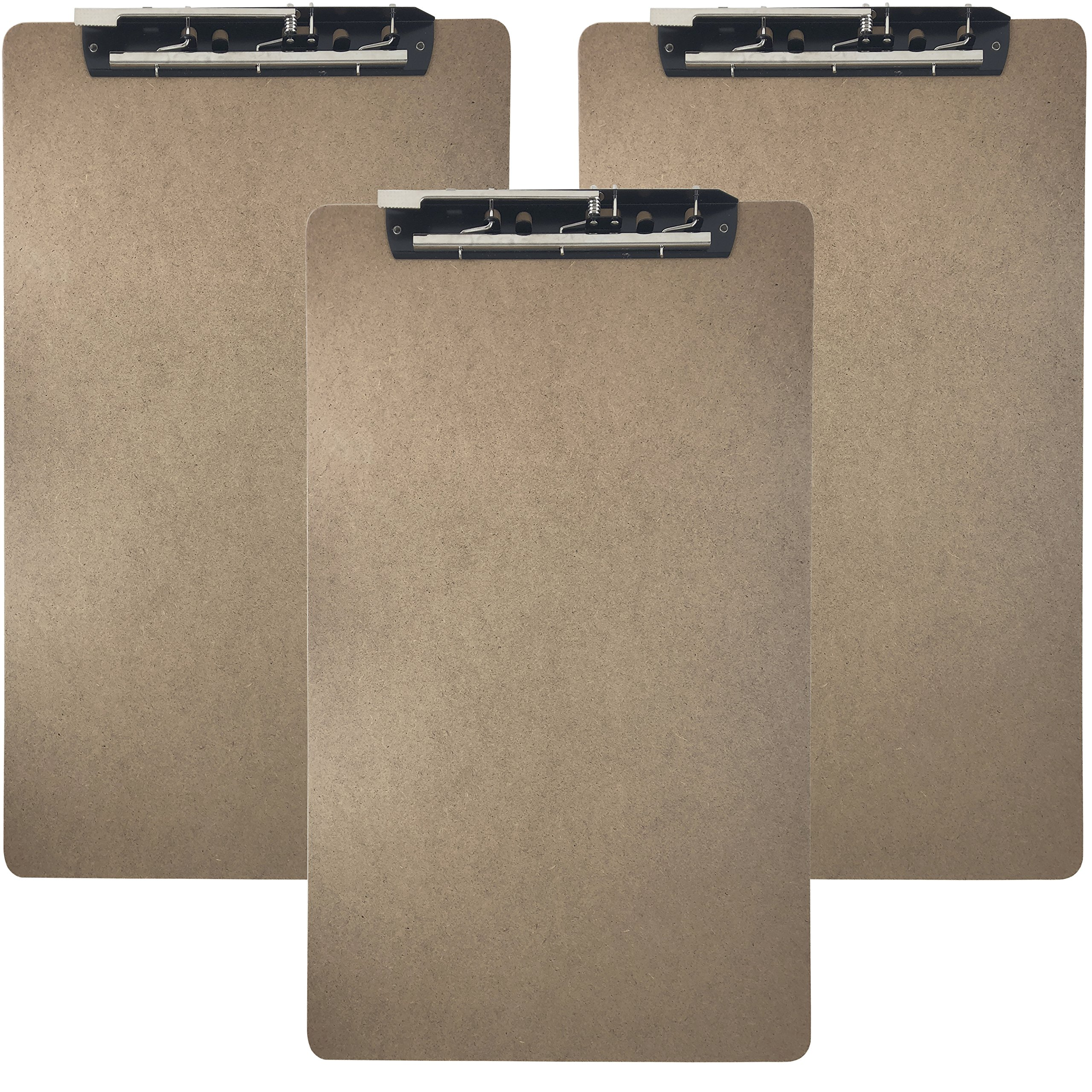 Trade Quest Ledger Size Clipboard Lever Hinge Clip 19.5'' x 11.6'' (Pack of 3)