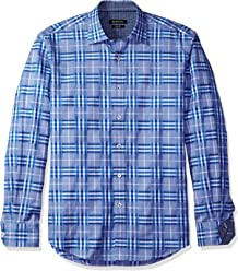 0a5665bd BUGATCHI Men's Plaid Button Down Shirt