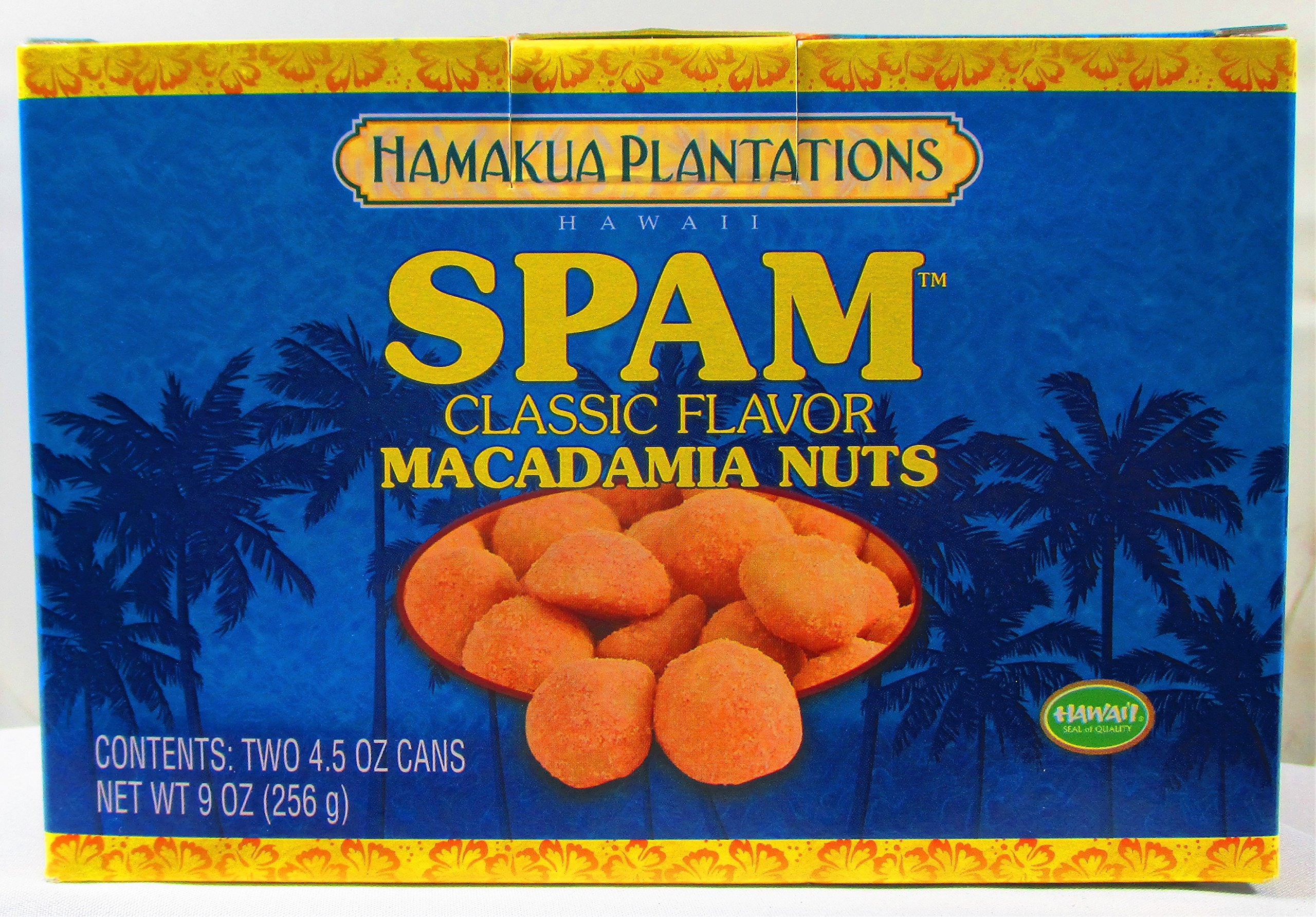 Hamakua Plantations Macadamia Nuts Spam Flavored (Two 4.5 oz. Cans