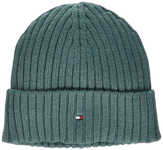 Tommy Hilfiger Cotton Cashmere Beanie, Sombrero para Niños, Azul (Pacific 319),